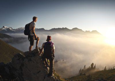 Wandern, Hiking, Brunni, Titlis, Aussicht, Gipfel, Gipfelkreuz, Sonnenuntergang